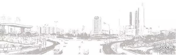 光谷建筑物手绘